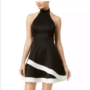 City Studios Black & White Dress